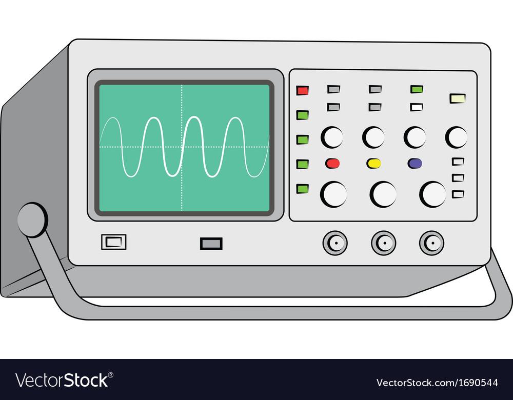 Oscilloscopetest instrument vector | Price: 1 Credit (USD $1)