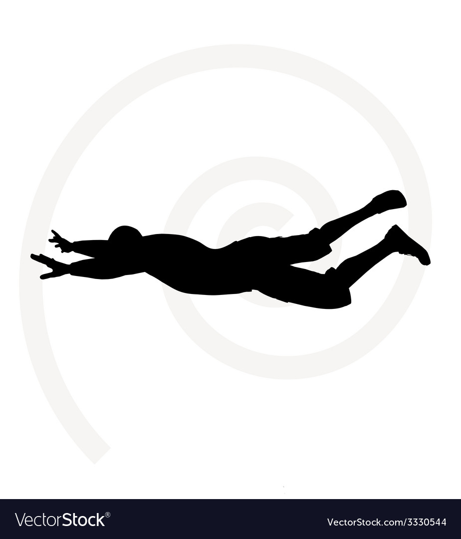 Senior climber man silhouette vector | Price: 1 Credit (USD $1)