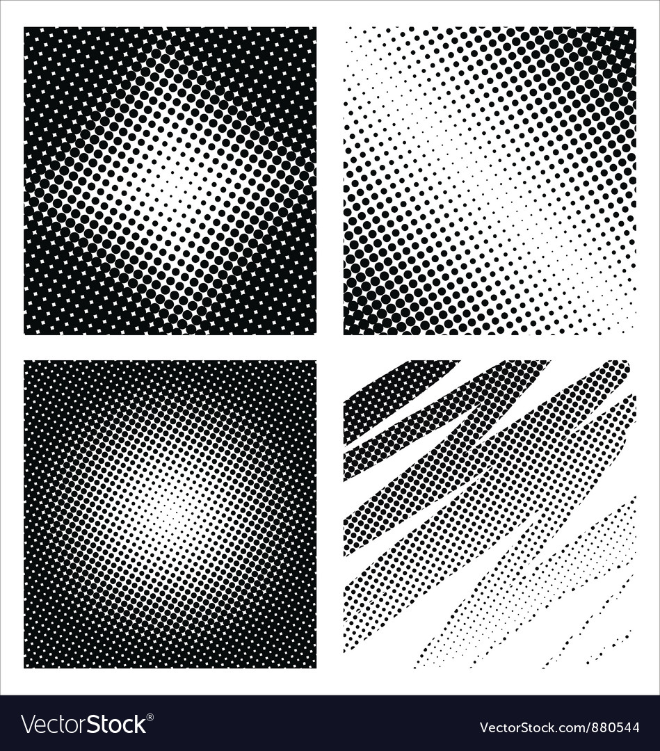 Set of different abstract halftone vector | Price: 1 Credit (USD $1)