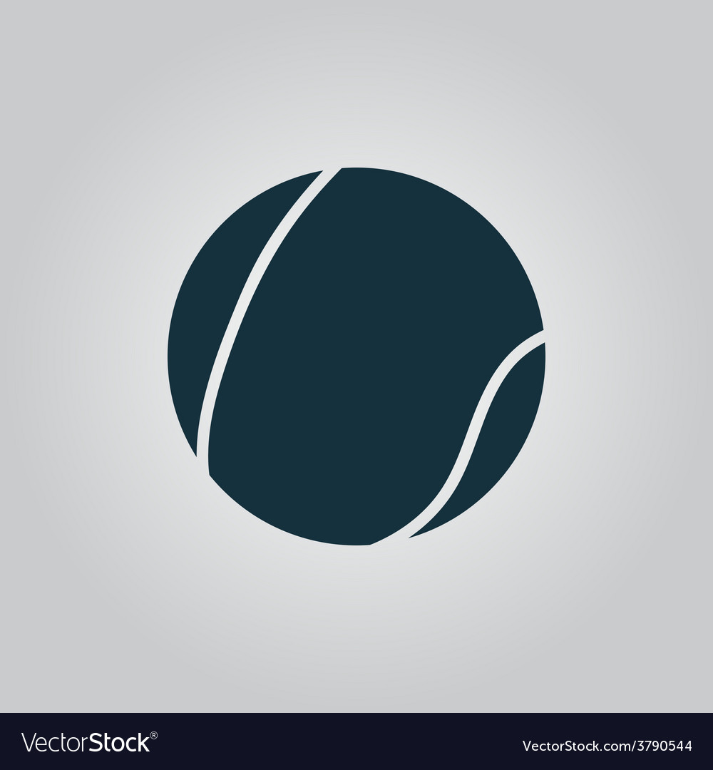 Tennis ball icon sign and button vector | Price: 1 Credit (USD $1)