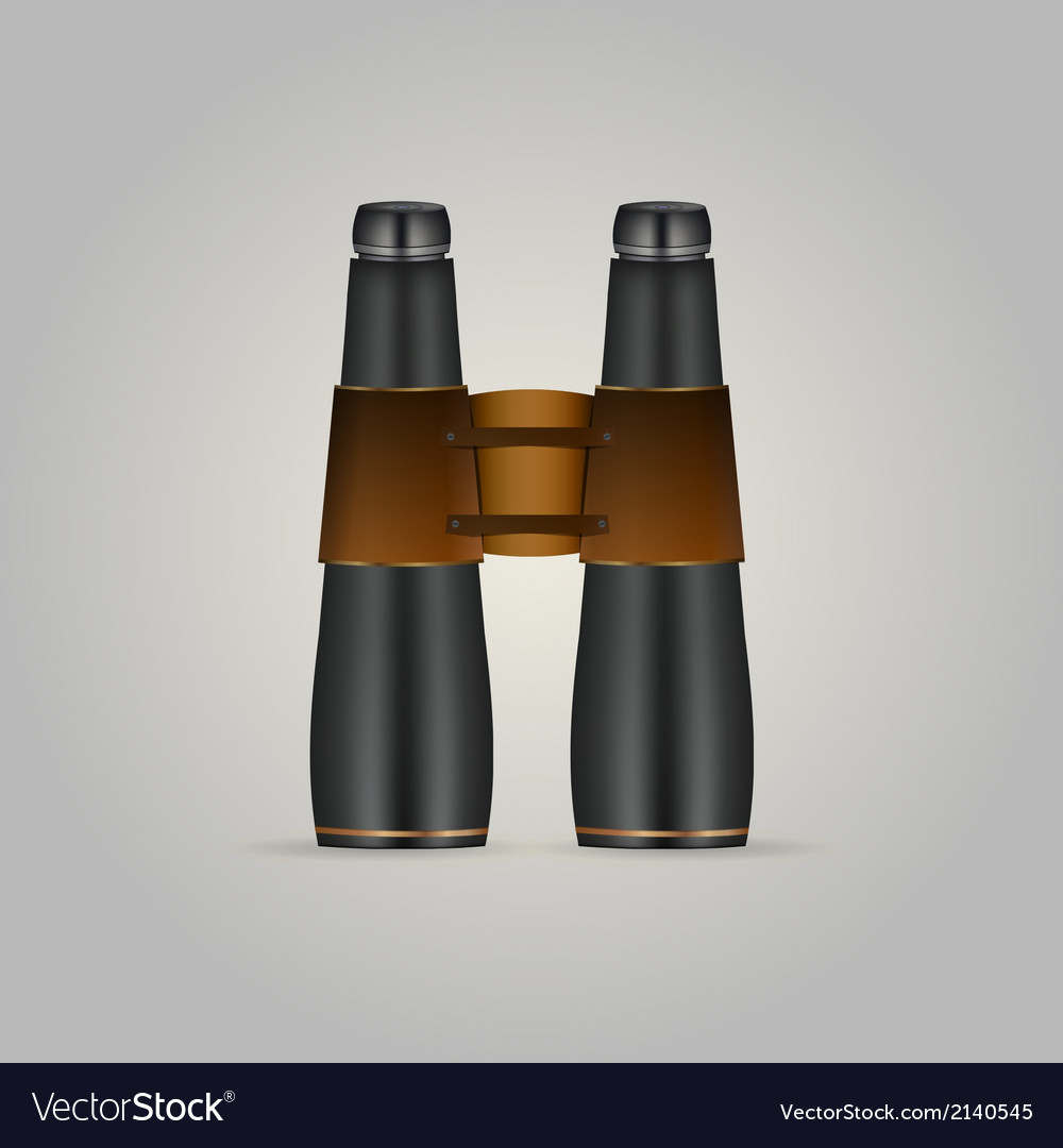 Black binoculars vector | Price: 1 Credit (USD $1)