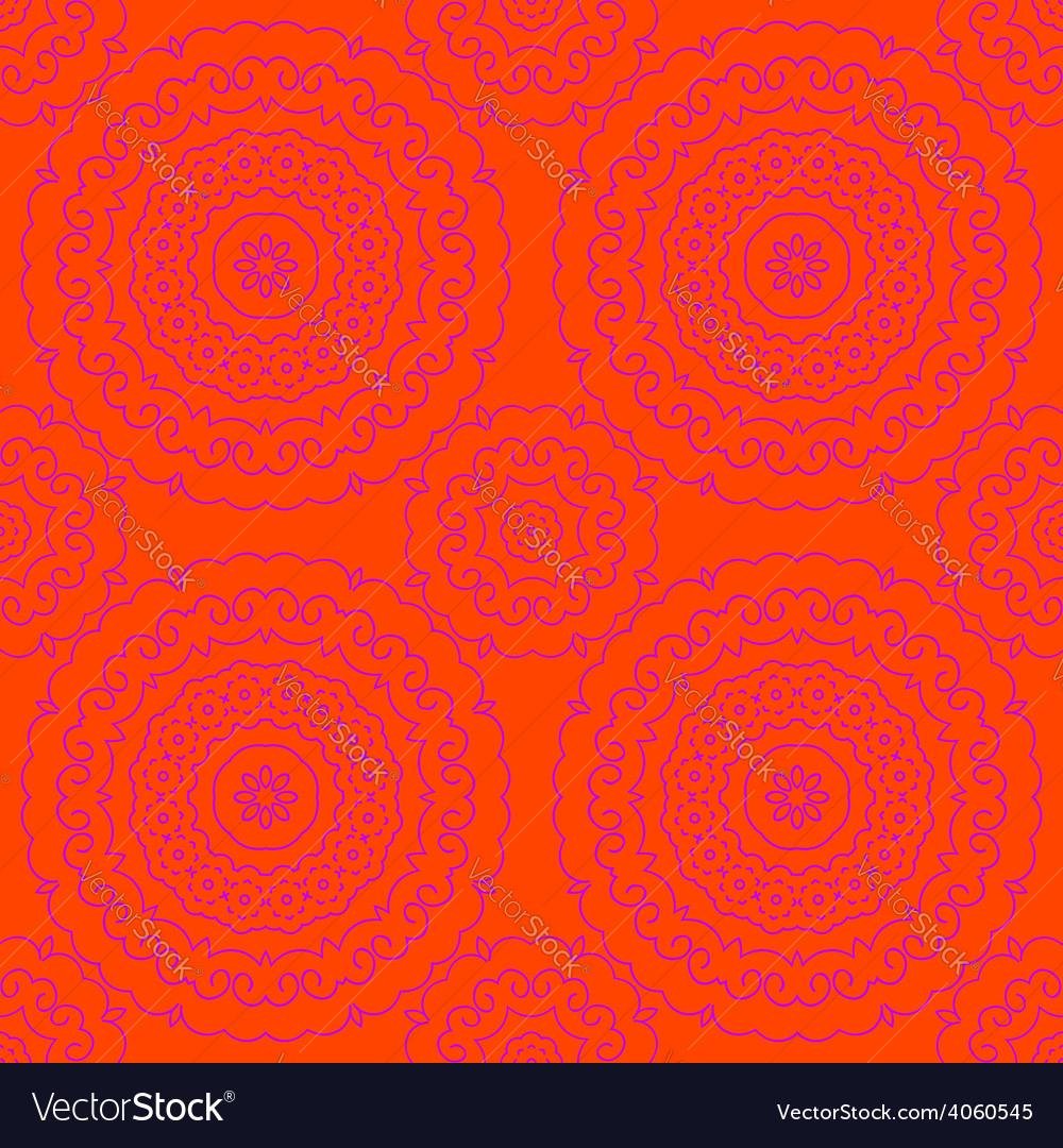 Circle pattern orange vector | Price: 1 Credit (USD $1)