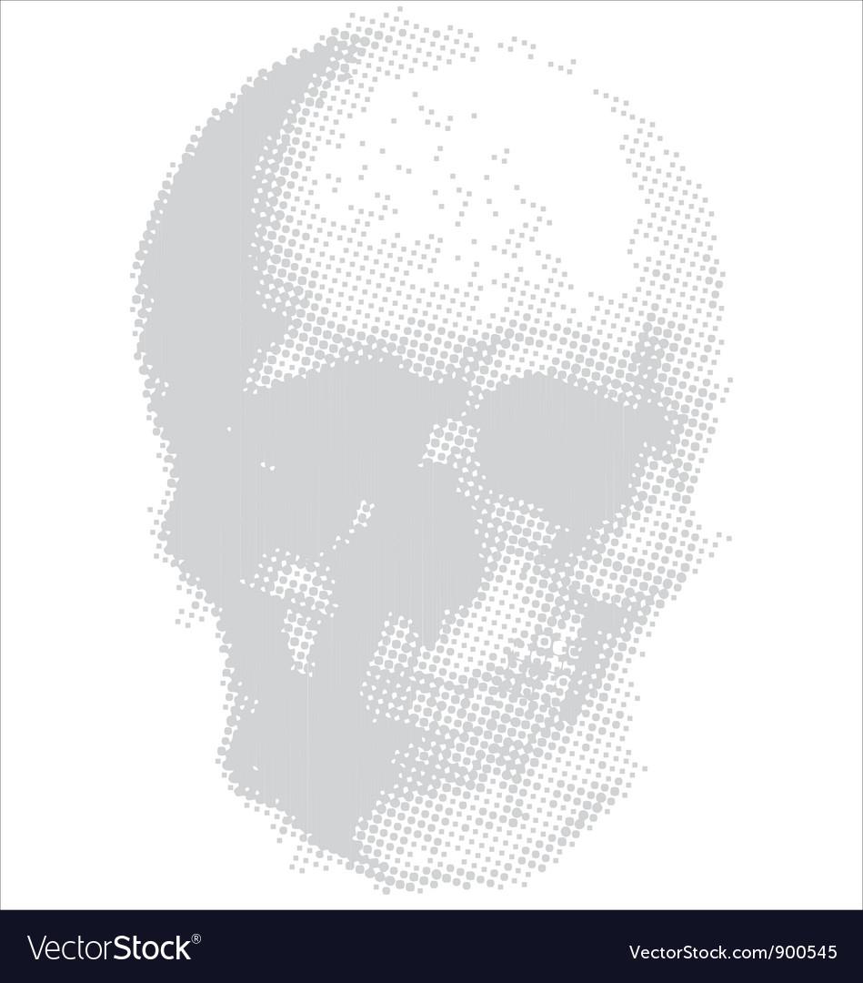 Halftone skull vector | Price: 1 Credit (USD $1)