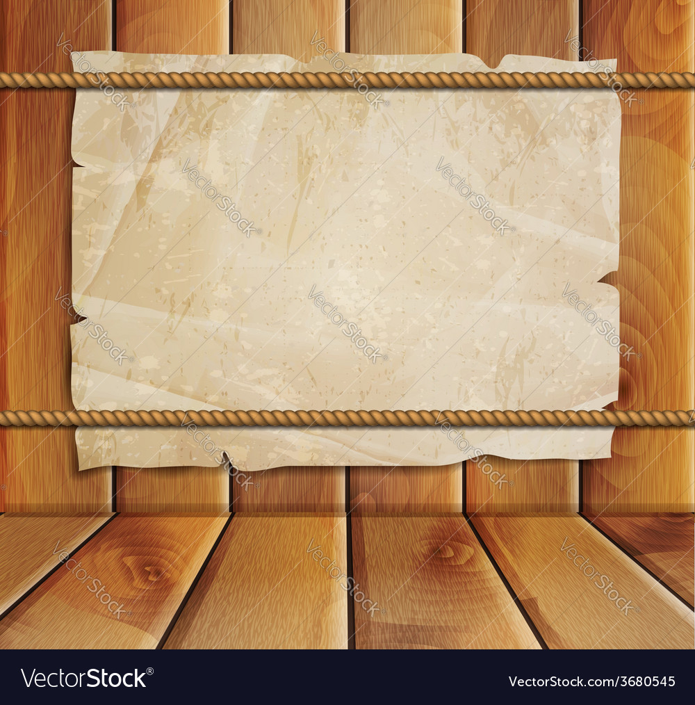 Old paper on a wooden background vector | Price: 1 Credit (USD $1)
