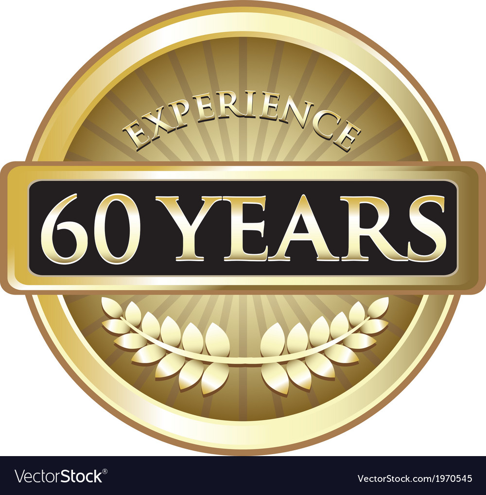 Sixty years experience gold vector | Price: 1 Credit (USD $1)