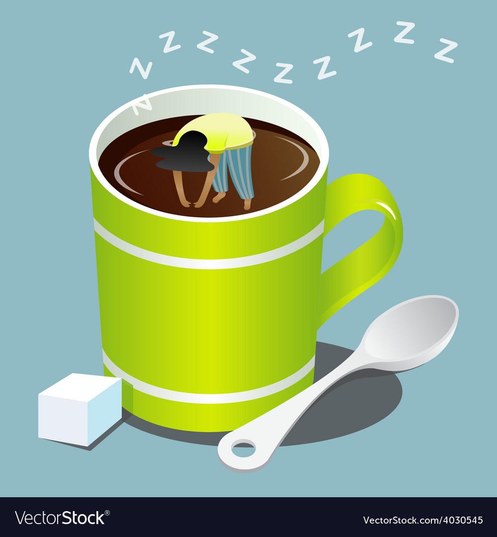 Sleep coffee vector | Price: 1 Credit (USD $1)
