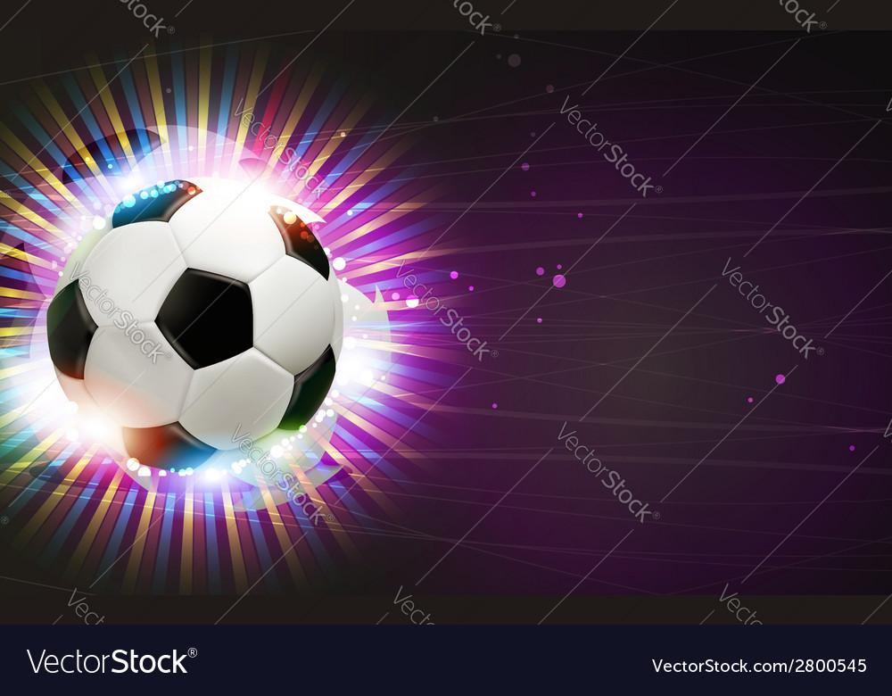Soccer ball and fireworks vector | Price: 1 Credit (USD $1)