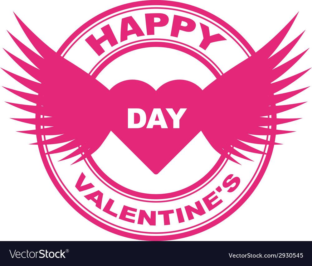 Valentine stamp vector | Price: 1 Credit (USD $1)