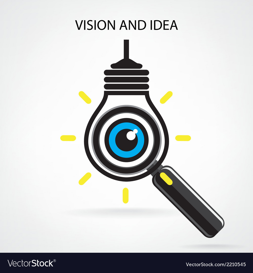 Vision and ideas signeye icon vector | Price: 1 Credit (USD $1)