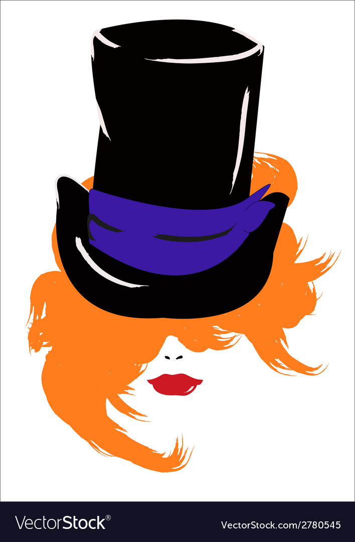 Woman in a hat vector | Price: 1 Credit (USD $1)