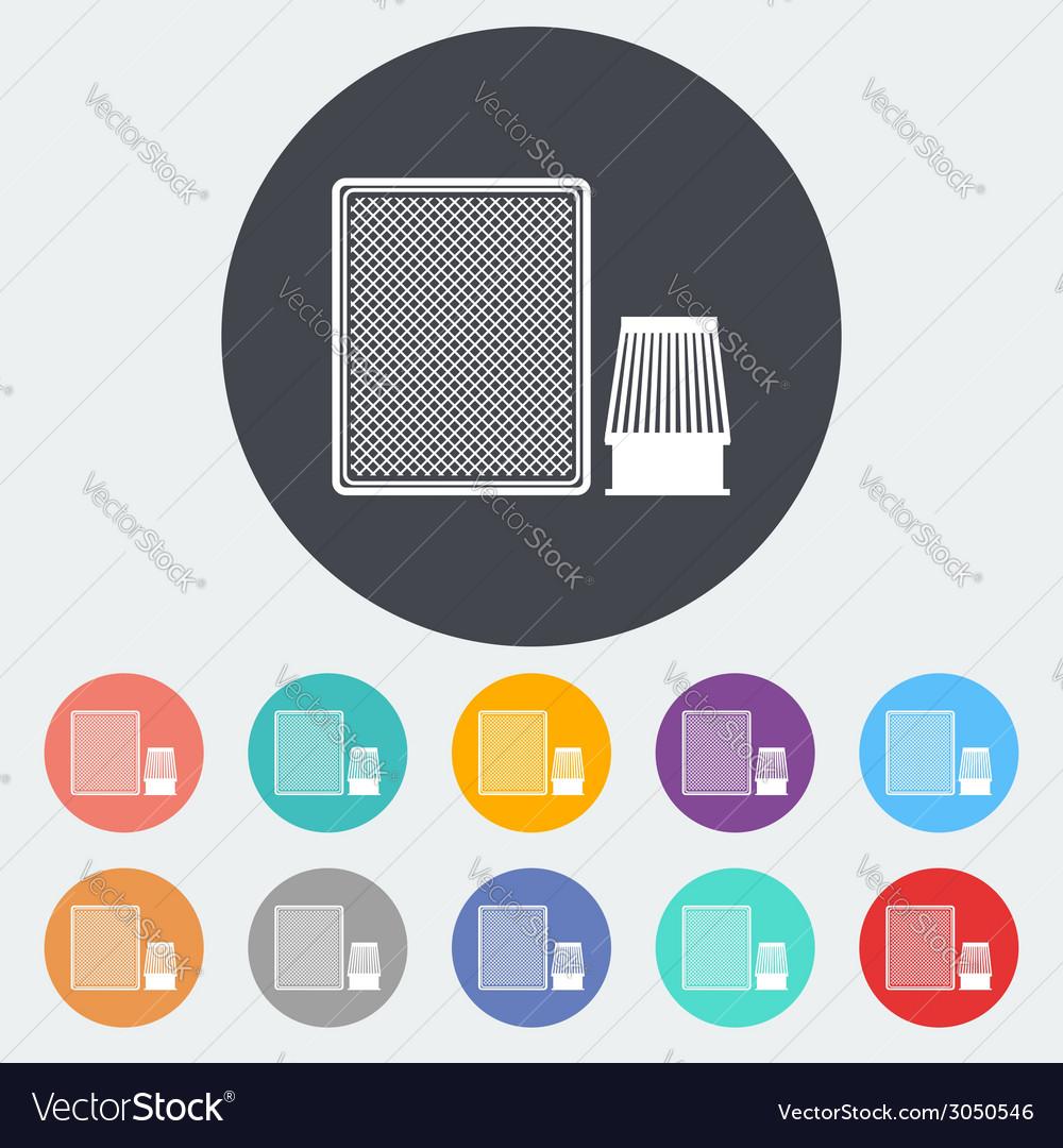 Automotive filter icon vector | Price: 1 Credit (USD $1)