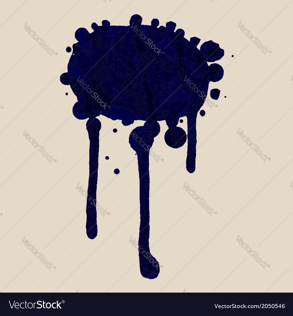 Blue ink blot vector   Price: 1 Credit (USD $1)