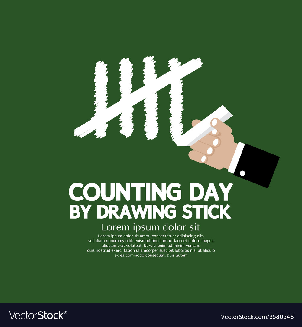 Counting day by drawing sticks vector | Price: 1 Credit (USD $1)