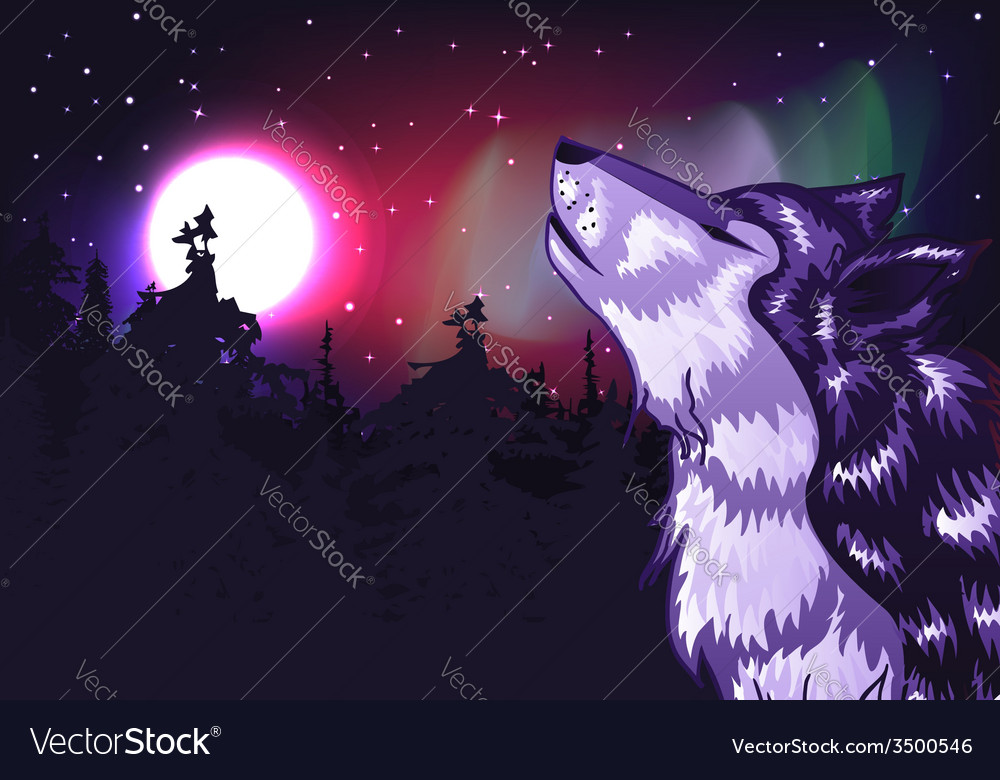 Crying wolf vector | Price: 3 Credit (USD $3)