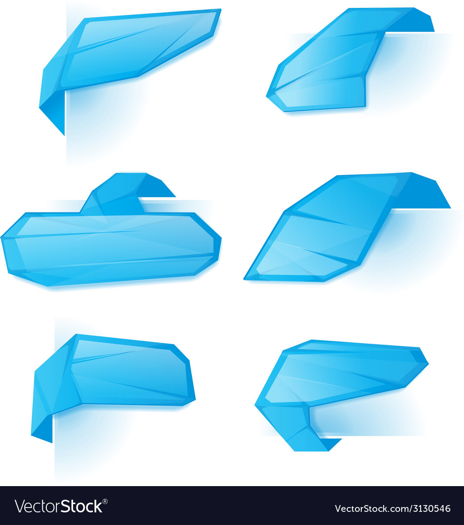 Crystal bookmarks set vector | Price: 1 Credit (USD $1)