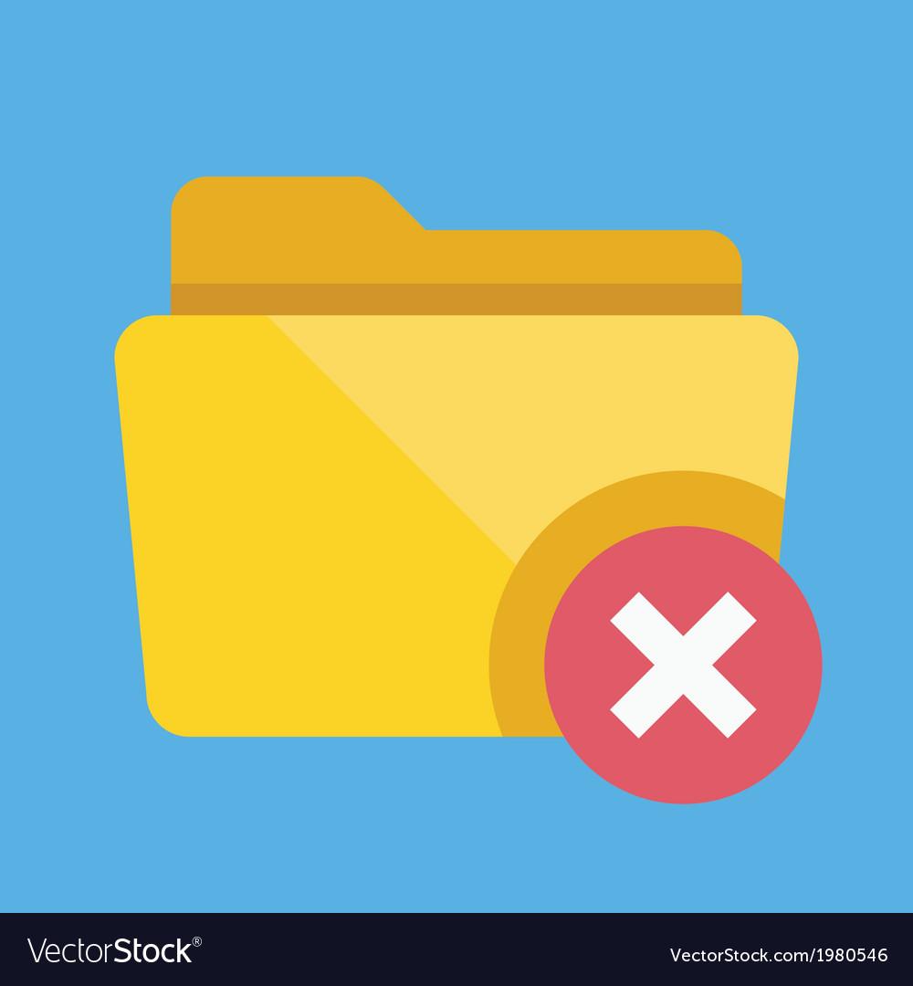 Delete folder icon vector | Price: 1 Credit (USD $1)