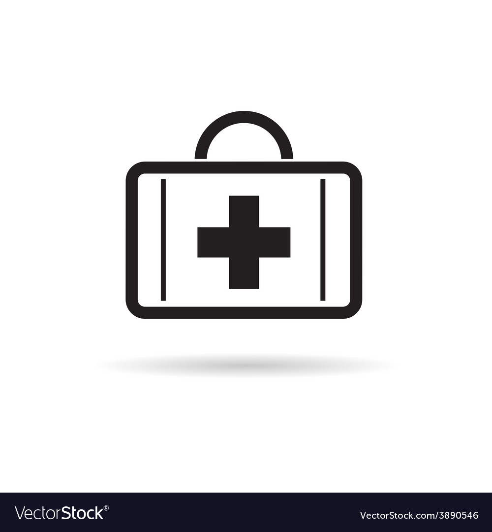 First aid case icon vector | Price: 1 Credit (USD $1)