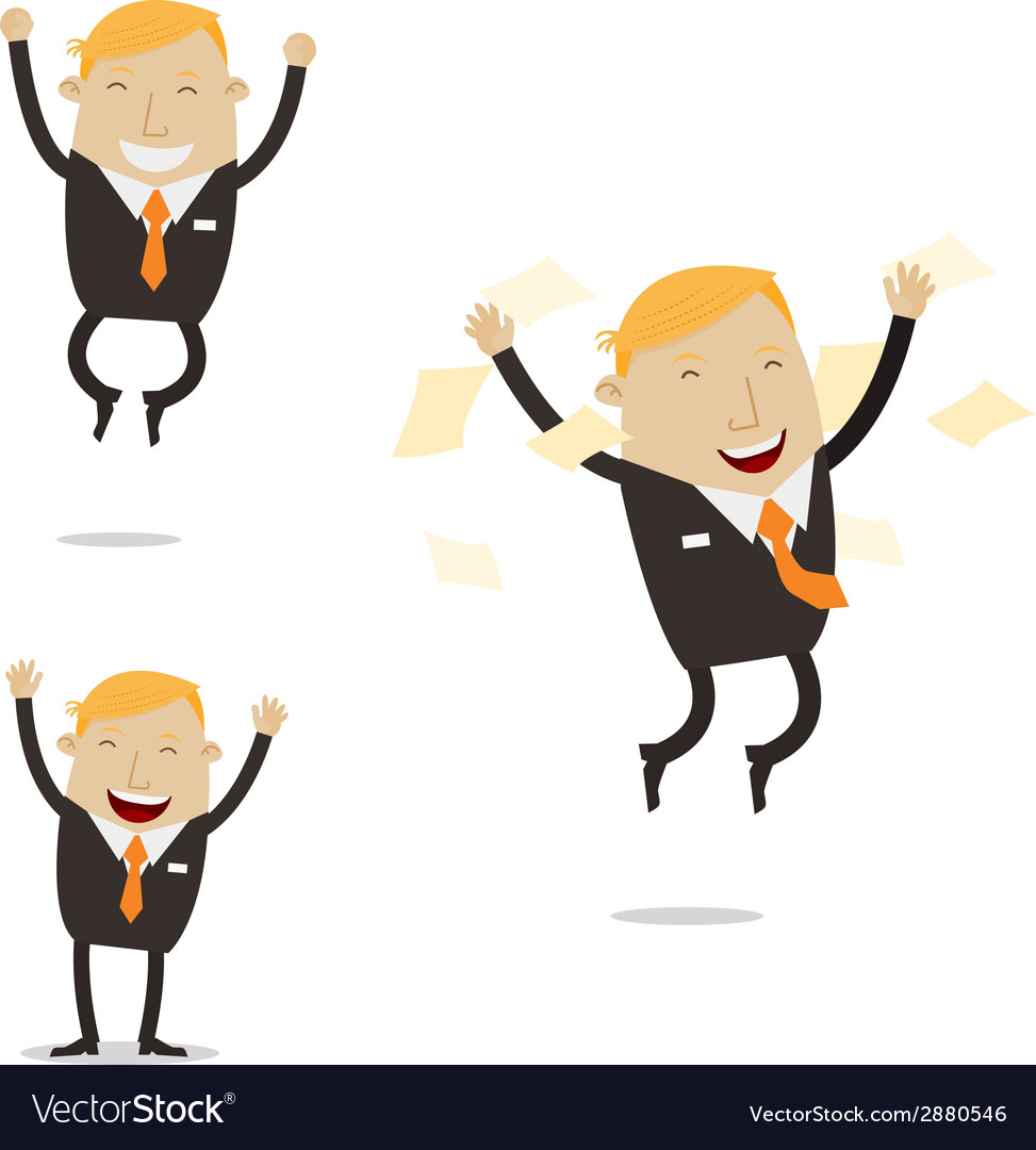 Happy free businessman vector | Price: 1 Credit (USD $1)