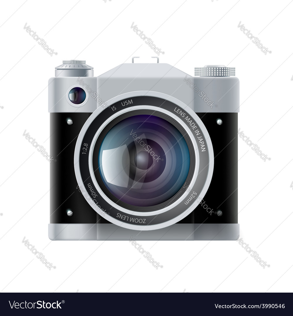 Icon analog film camera isolated on white vector | Price: 1 Credit (USD $1)