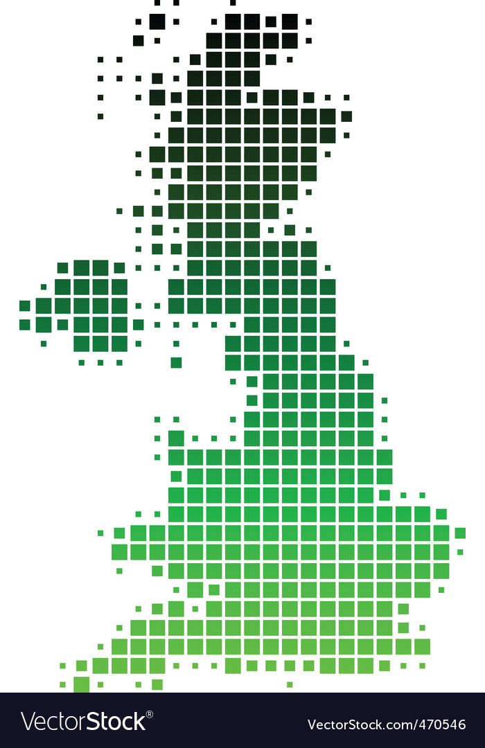 Map of great britain vector | Price: 1 Credit (USD $1)