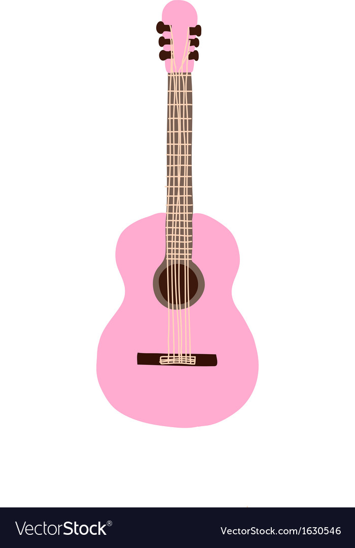 Pastel pink guitar vector | Price: 1 Credit (USD $1)