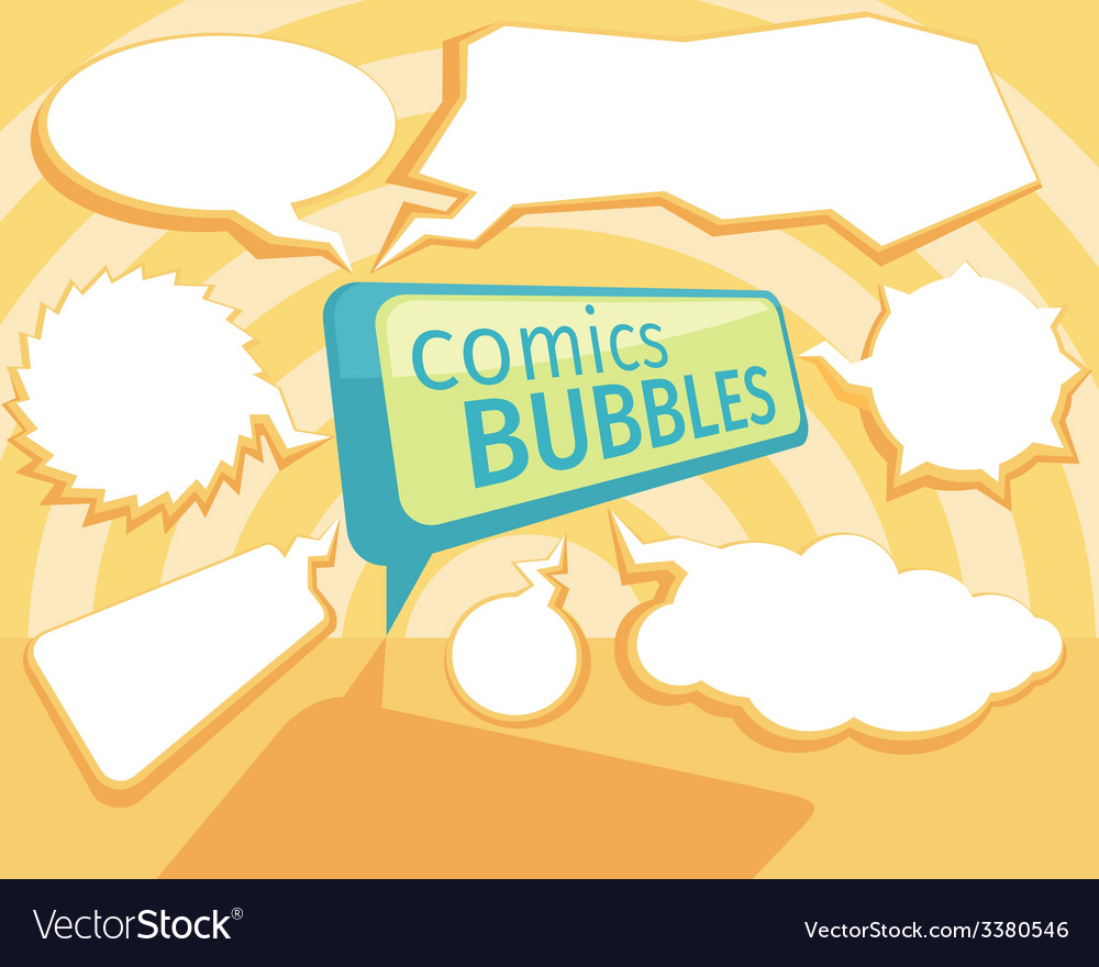 Set of comic bubbles vector | Price: 1 Credit (USD $1)