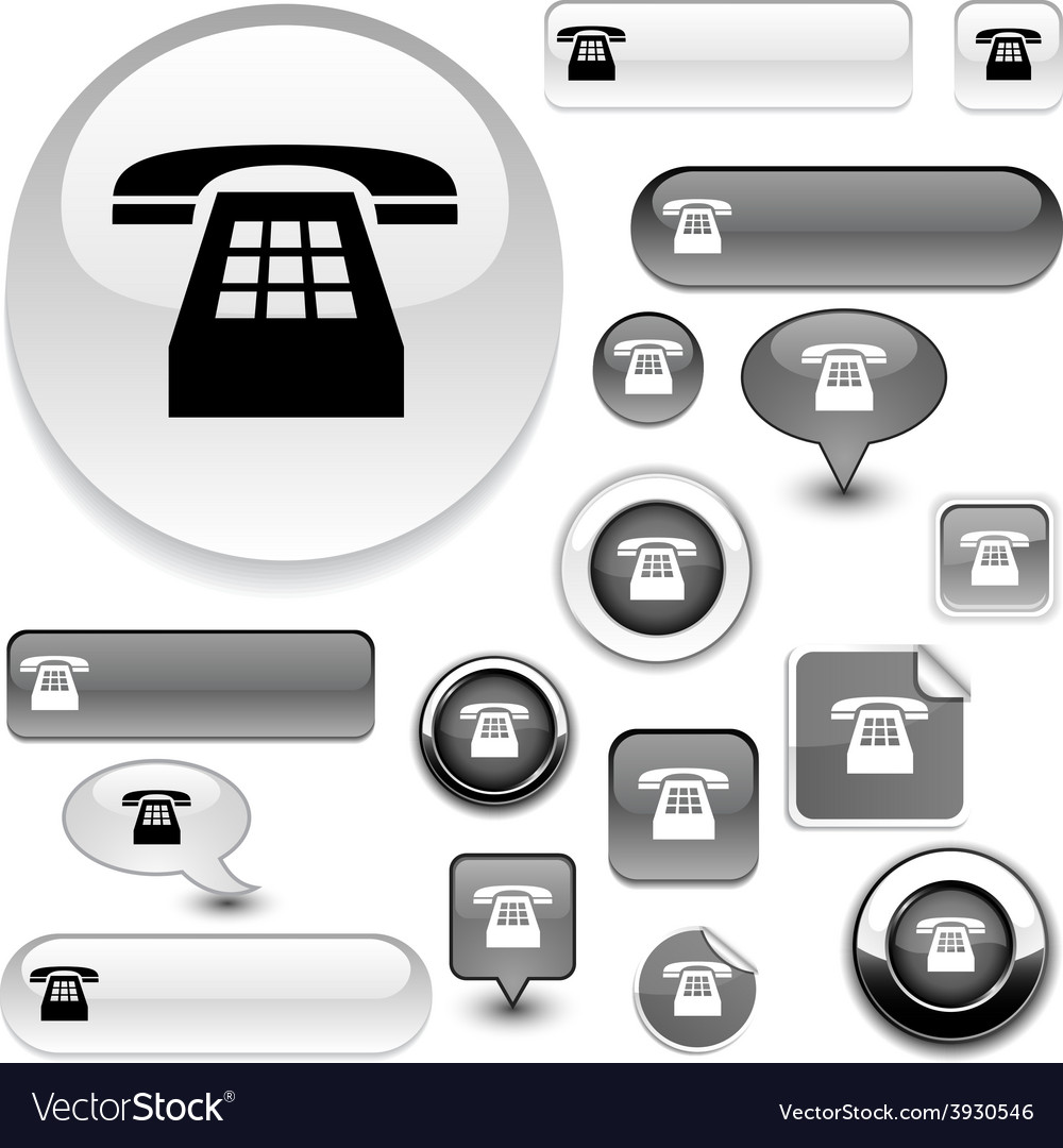 Telephone signs vector | Price: 1 Credit (USD $1)