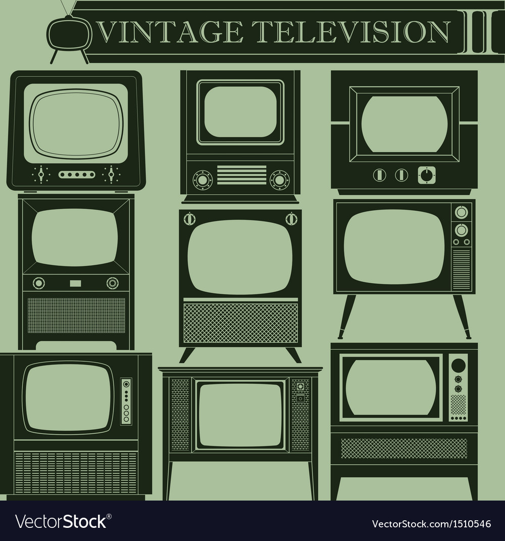 Vintage television ii vector | Price: 1 Credit (USD $1)