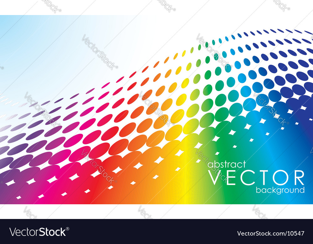 Abstract background with rainbow circl vector | Price: 1 Credit (USD $1)
