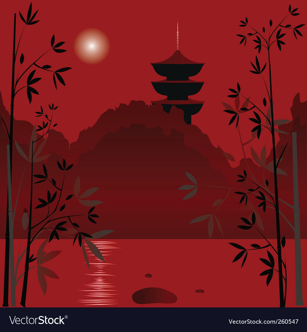 Asian background vector | Price: 3 Credit (USD $3)