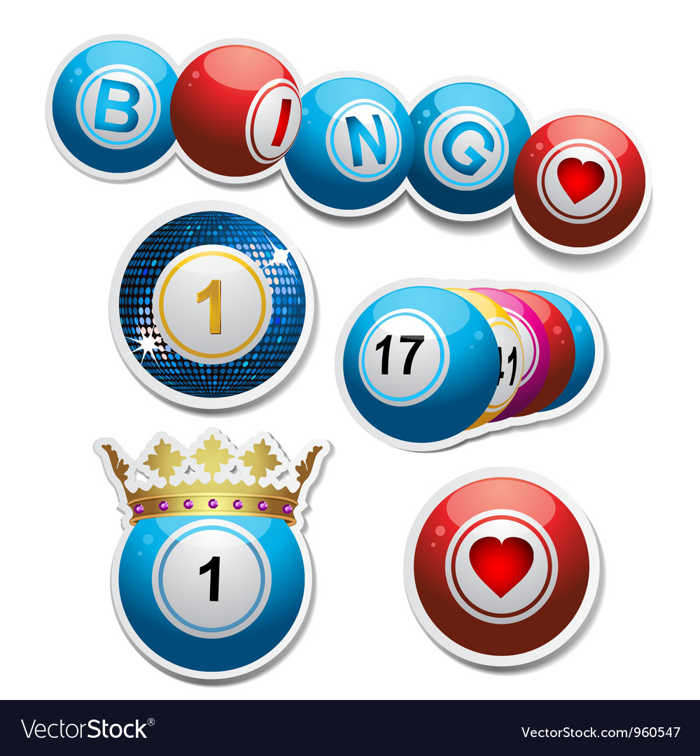Bingo stickers set2 vector | Price: 1 Credit (USD $1)