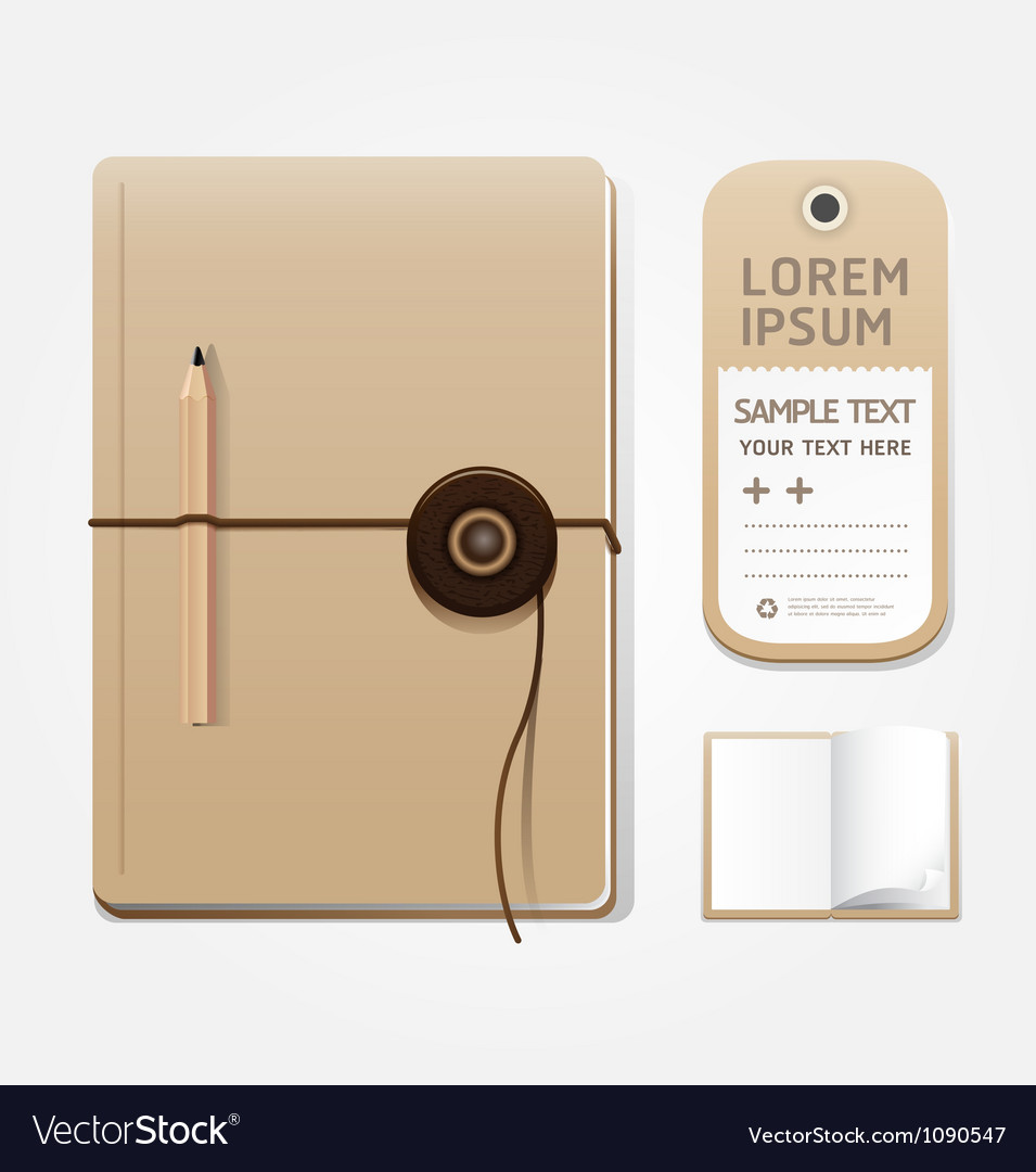 Blank notebook open page vector   Price: 1 Credit (USD $1)