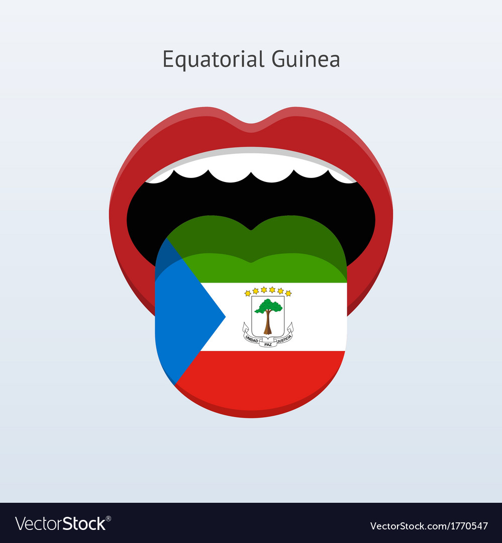 Equatorial guinea language abstract human tongue vector | Price: 1 Credit (USD $1)