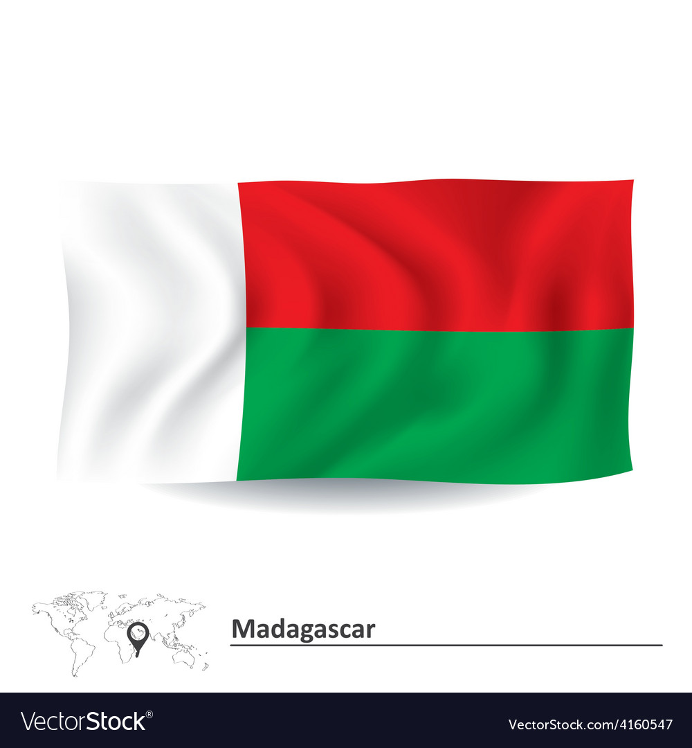 Flag of madagascar vector | Price: 1 Credit (USD $1)