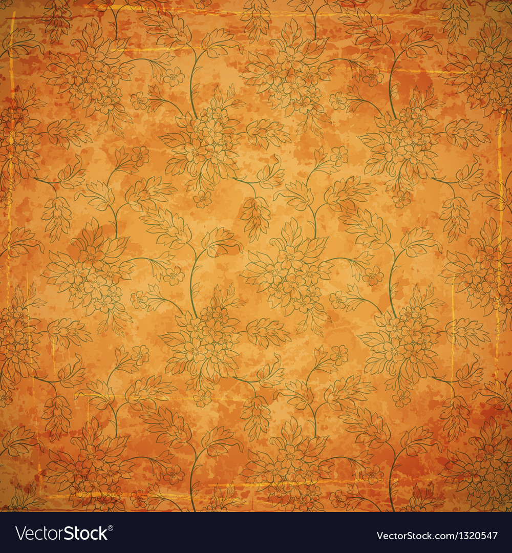 Floral ancient background vector | Price: 1 Credit (USD $1)