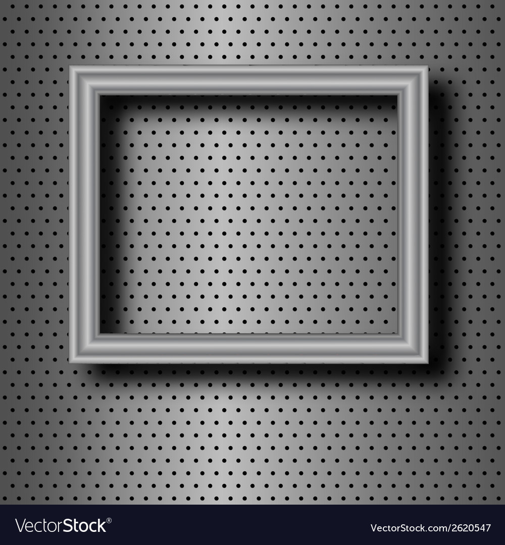 Frame on metal vector | Price: 1 Credit (USD $1)