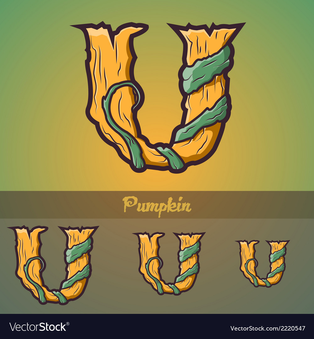 Halloween decorative alphabet - u letter vector | Price: 1 Credit (USD $1)