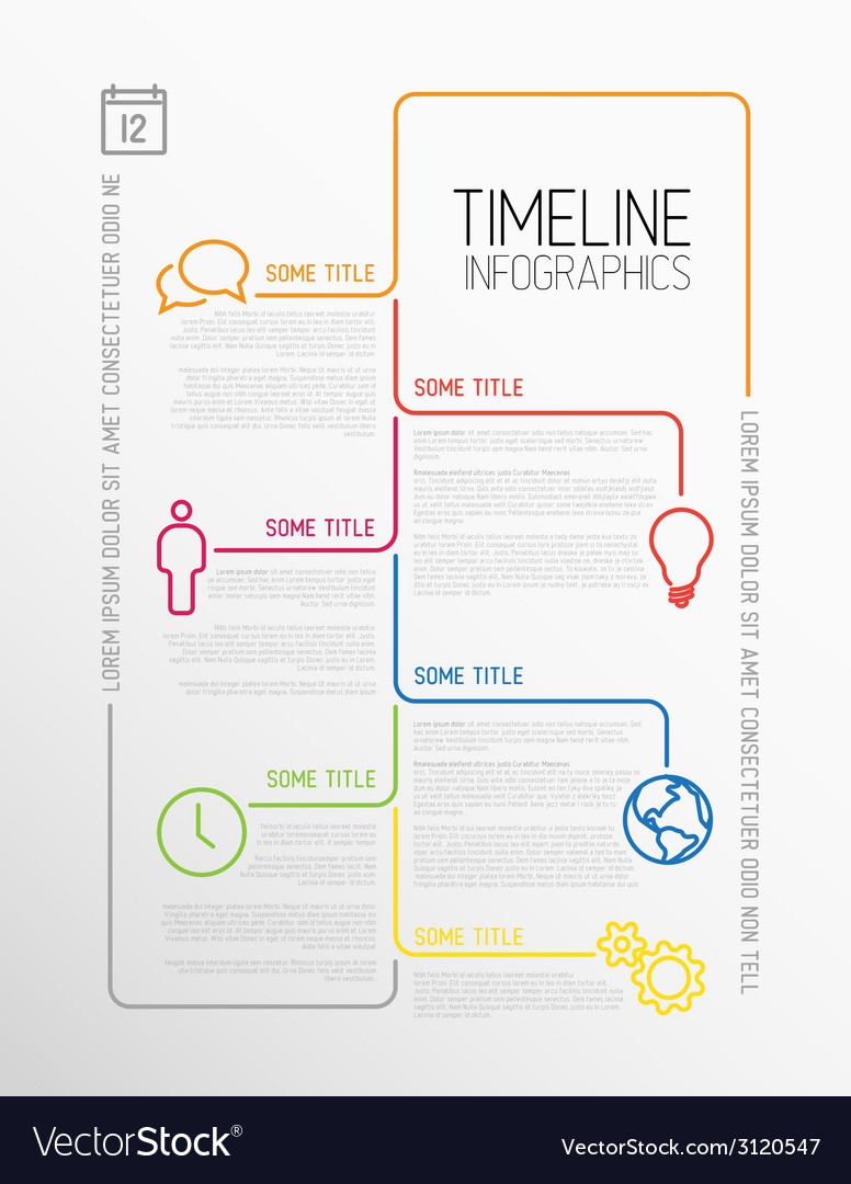 Infographic timeline report template vector | Price: 1 Credit (USD $1)