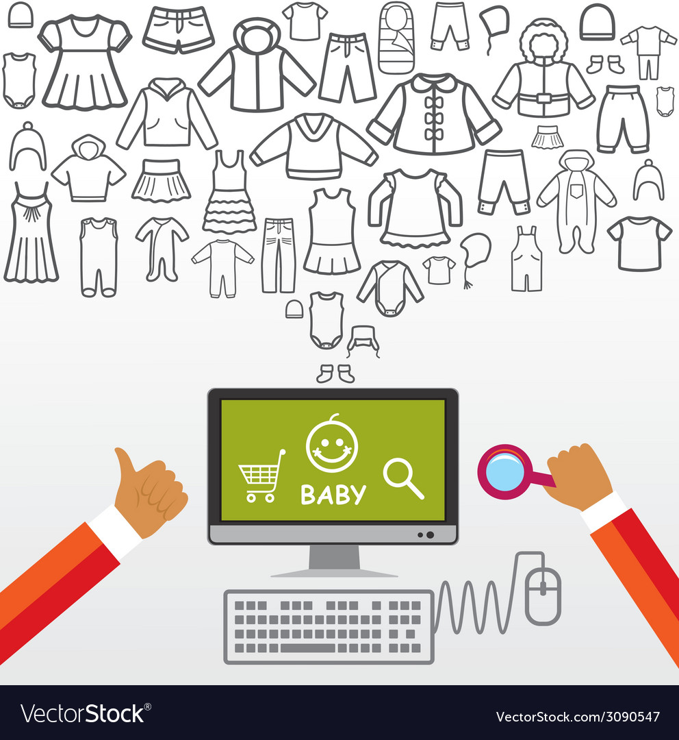 Online shopping and modern technology vector | Price: 1 Credit (USD $1)