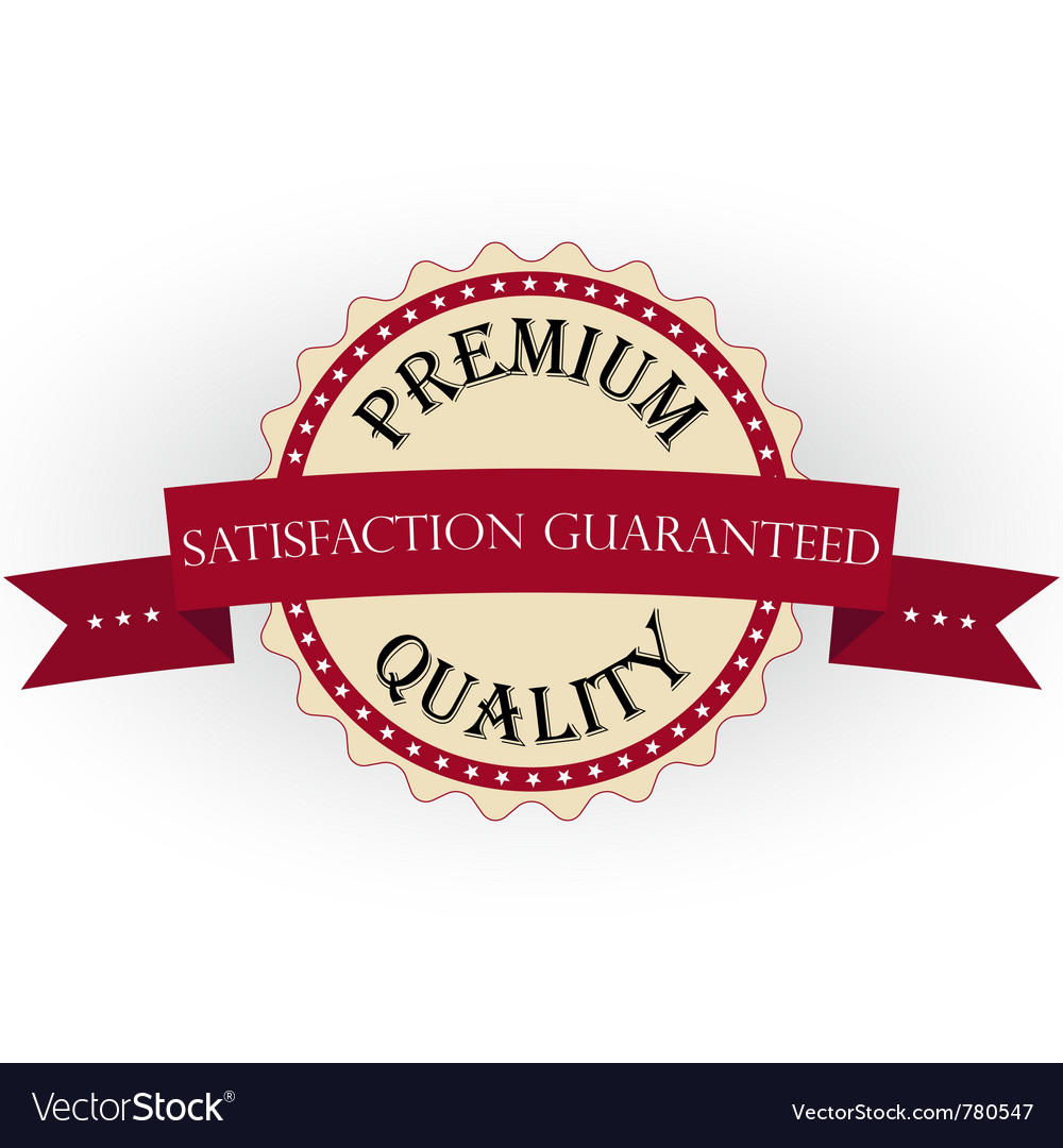 Premium quality labels with retro vintage design vector | Price: 1 Credit (USD $1)