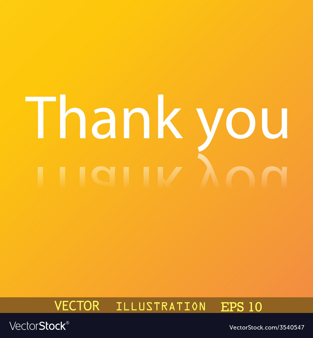 Thank you icon symbol flat modern web design with vector | Price: 1 Credit (USD $1)