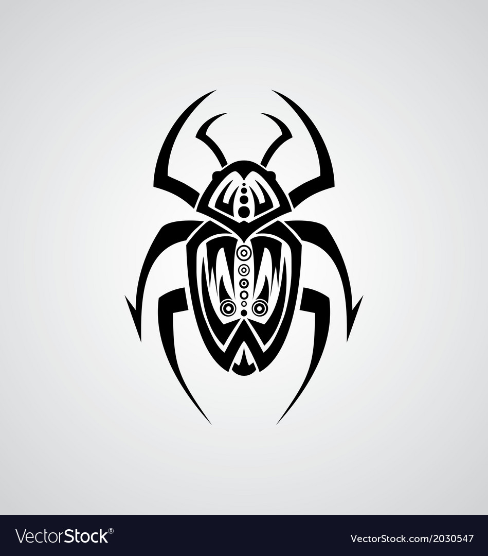Tribal beetle vector | Price: 1 Credit (USD $1)