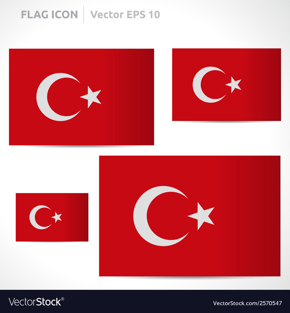 Turkey flag template vector | Price: 1 Credit (USD $1)