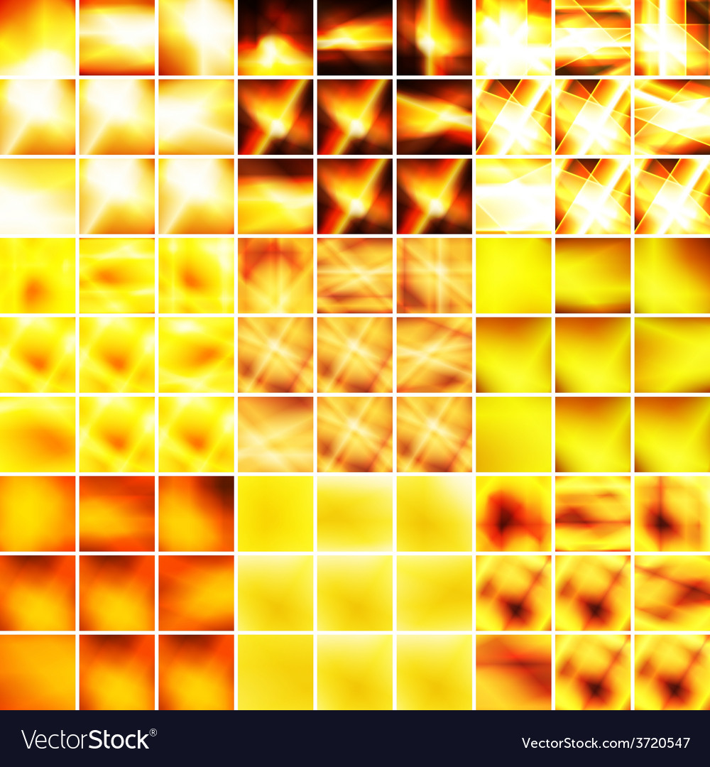 Yellow and orange big set of backgrounds vector | Price: 1 Credit (USD $1)
