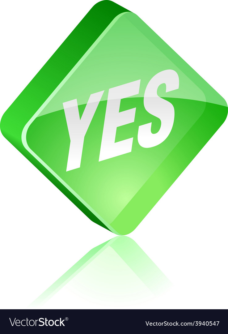 Yes button vector   Price: 1 Credit (USD $1)