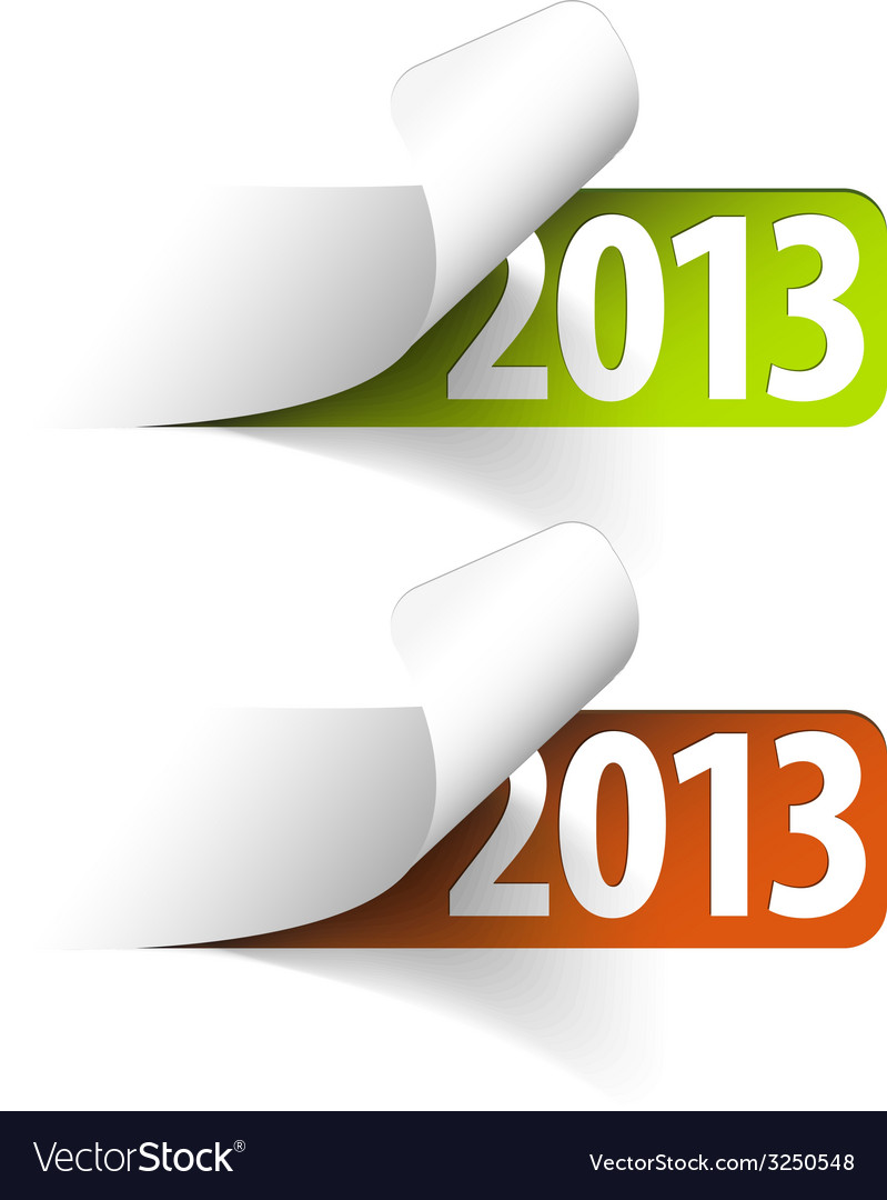 2013 new year stickers vector | Price: 1 Credit (USD $1)