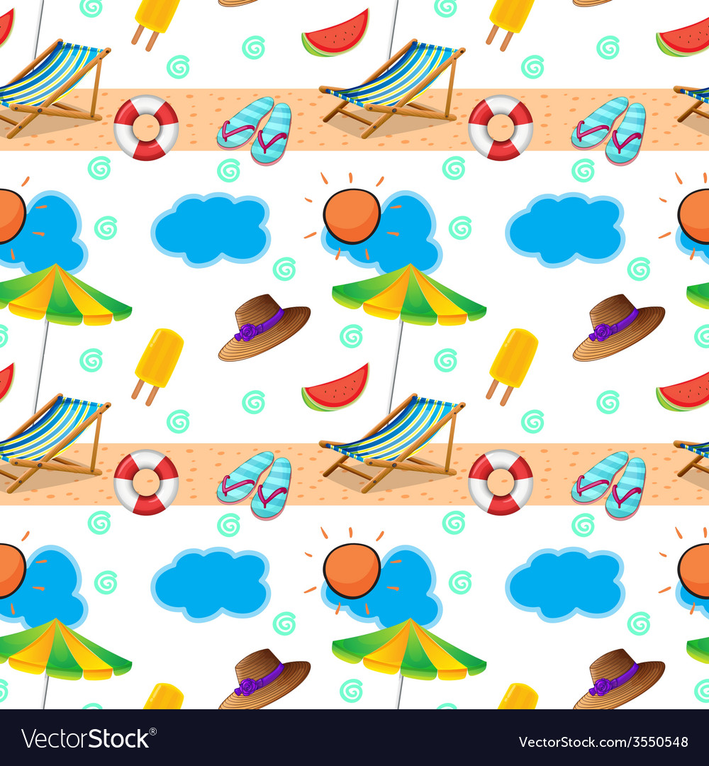 A seamless design showing the beach vector | Price: 1 Credit (USD $1)