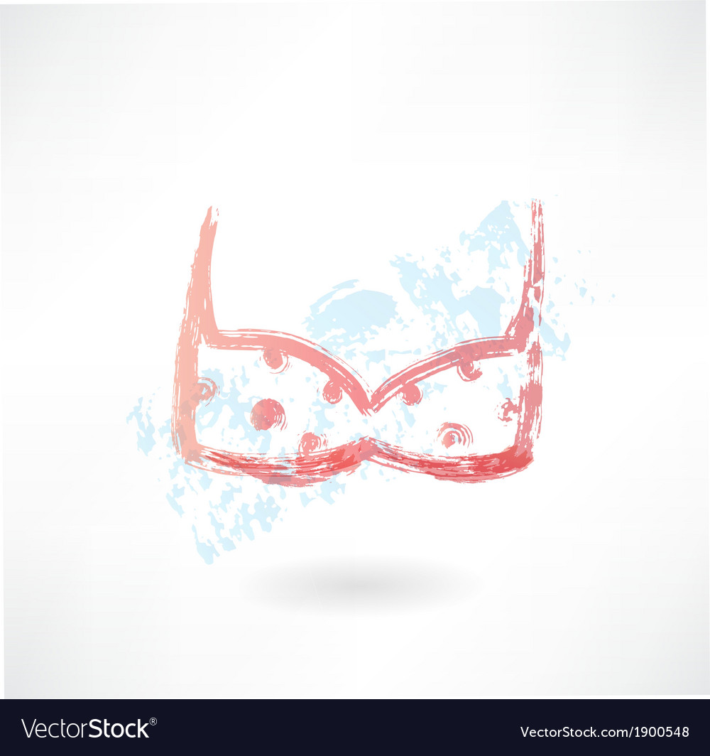 Bra grunge icon vector | Price: 1 Credit (USD $1)