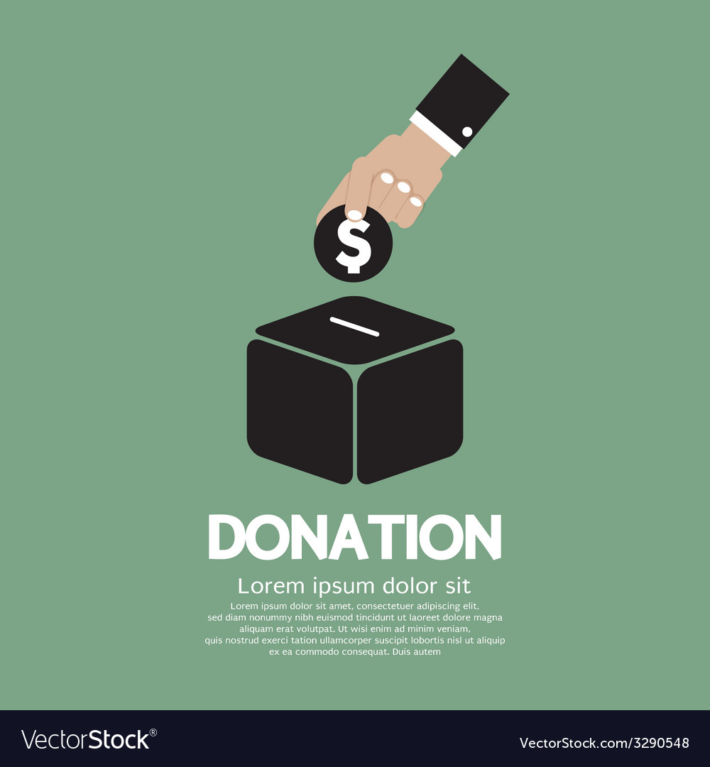 Donate money to charity concept vector | Price: 1 Credit (USD $1)