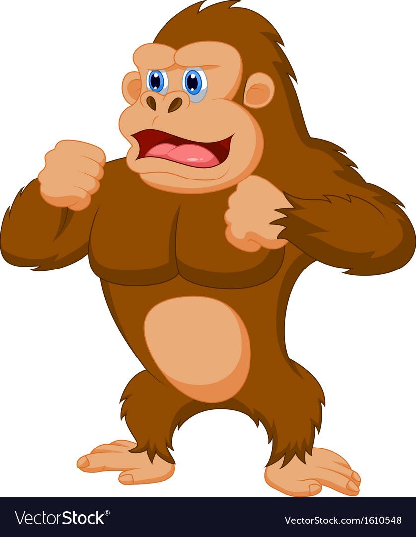 Gorilla cartoon vector | Price: 1 Credit (USD $1)